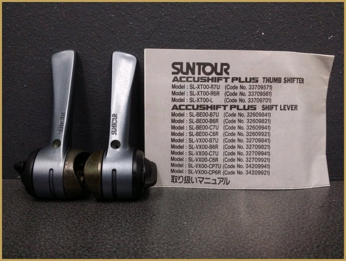 "Shifters speeds OUR ""SUNTOUR ACCUSHIFT PLUS"" 2x6v (Ref 361)"