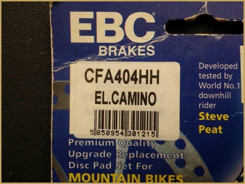 "Plaquettes de frein à disque ""HAYES EL.CAMINO GOLD"" (Ref 50)"
