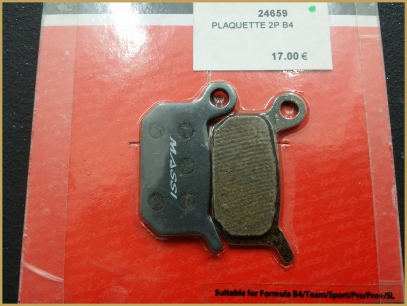 "Disc brake pads FORMULA B4"" (Ref 59)"