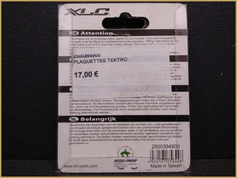 """Plaquettes de frein à disque """"TEKTRO AOX"""" (Ref 27)"""