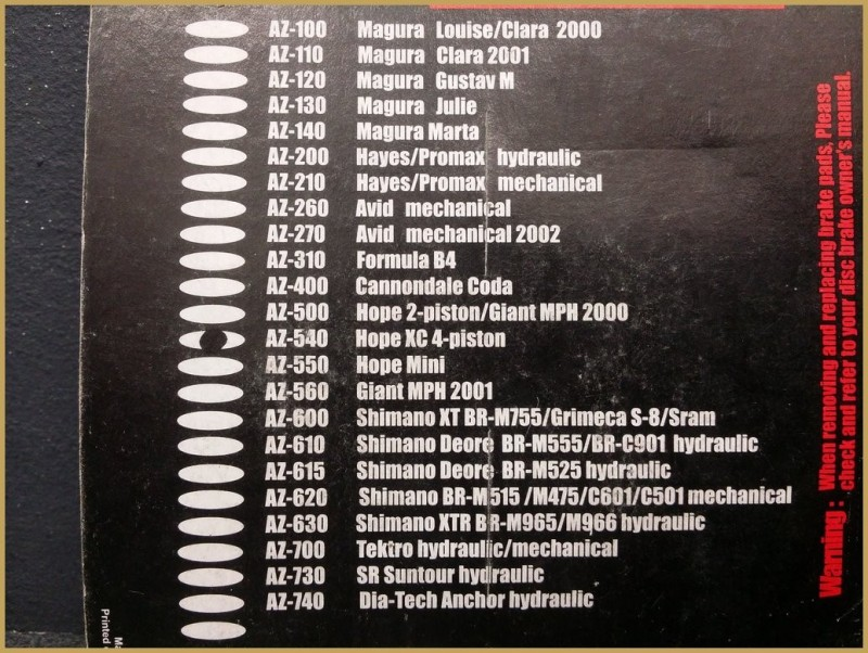 "Disc brake pads HOPE XC 4-piston"" (Ref 26)"