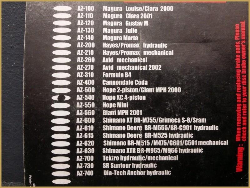 """Plaquettes de frein à disque """"HOPE XC 4 pistons"""" (Ref 26)"""