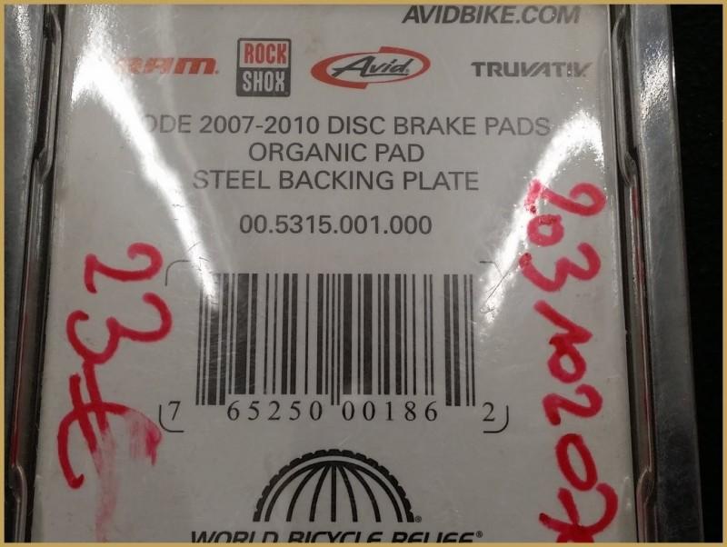 """Plaquettes de frein à disque """"AVID"""" (Ref 38)"""