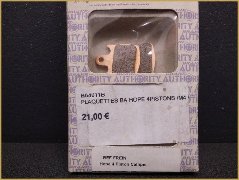 """Pastiglie per freni a disco HOPE a 4 pistoncini / M4"""" (Rif 48)"""