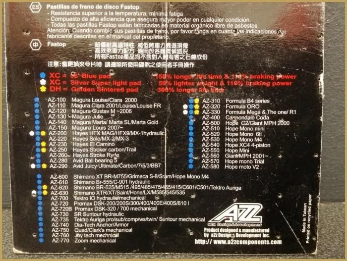 "Plaquettes de frein à disque ""SHIMANO / TEKTRO"" (Ref 54)"