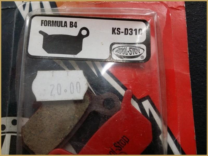"""Pastillas de freno de disco FORMULA B4"""" (Ref 56)"""