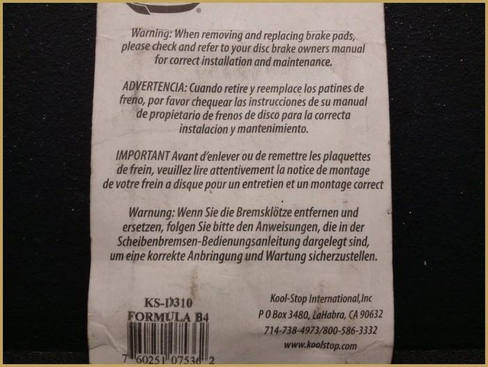 """Scheibenbremsbeläge FORMULA-B4"""" (Ref 56)"""