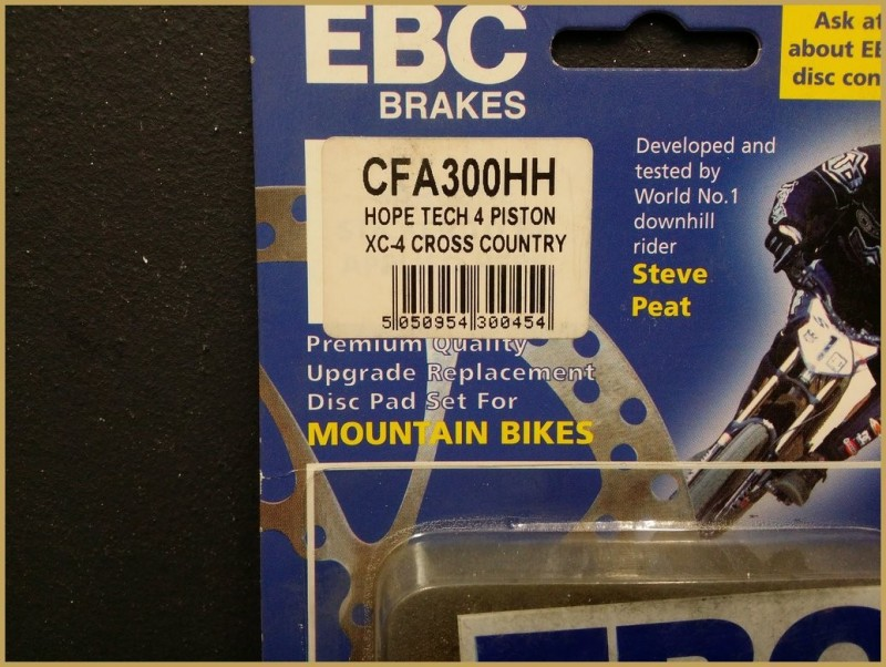 "Disc brake pads HOPE XC 4-PISTON GOLD"" (Ref 46)"