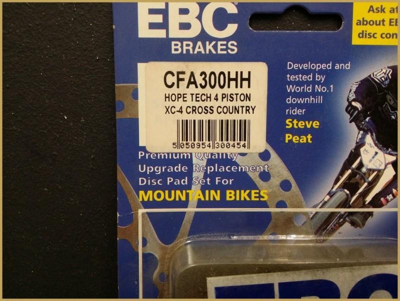 """Plaquettes de frein à disque """"HOPE XC 4 PISTONS GOLD"""" (Ref 46)"""