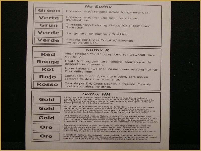 """Plaquettes de frein à disque """"FORMULA HYDAULIC ROUGE"""" (Ref 47)"""