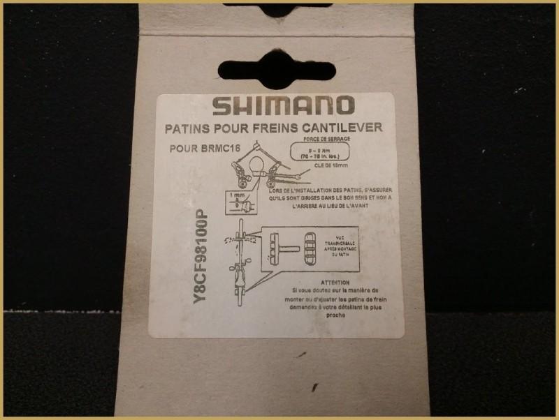 "Patins cantilever NOS ""SHIMANO"" (Ref 31)"