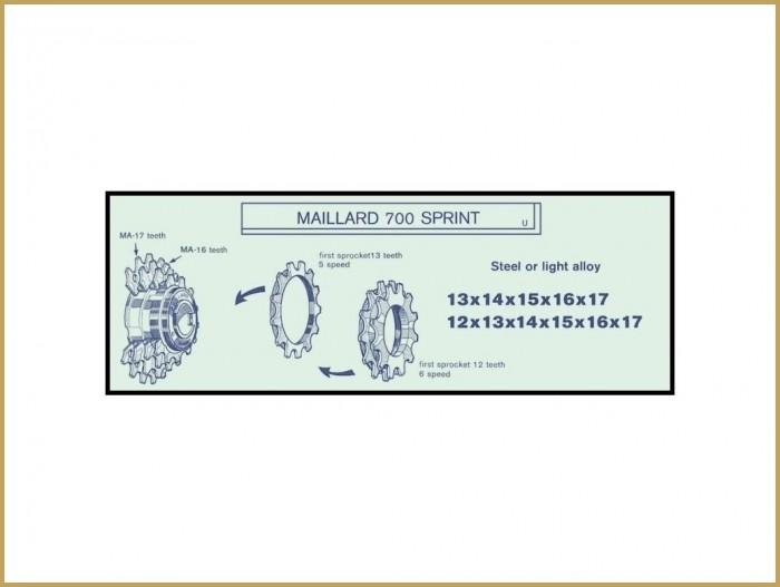 """Pignon NOS en ALU """"MAILLARD ZD13"""" (Ref 48)"""