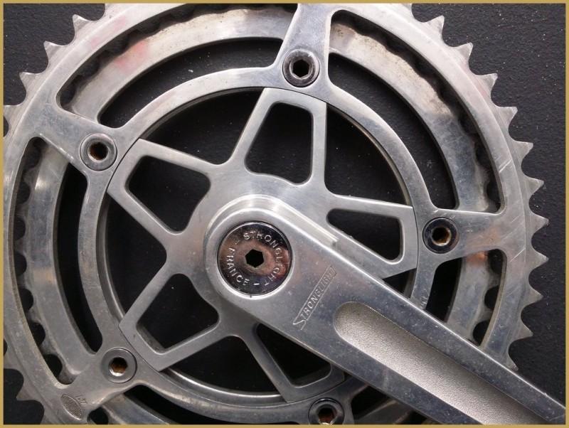 "Pédalier ""STRONGLIGHT 93"" 165mm (Ref 486)"